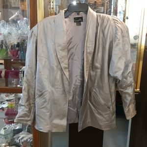 Suzelle open leather coat Sz S (SKU OB 138)